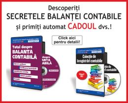 Pachet promotional: CD-ul Totul despre balanta contabila + GRATUIT CD-ul Colectie de inregistrari contabile