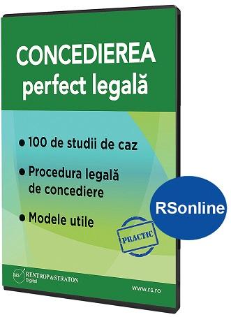 Concedierea perfect legala - varianta RSonline