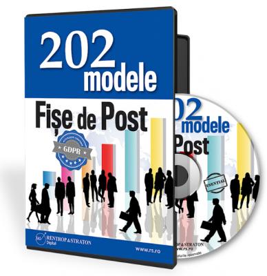 202 Modele de fise de post actualizate conform GDPR
