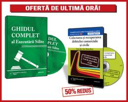 Pachet promotional: CD Ghidul complet al executrii silite + REDUCERE 50% CD Colectarea si recuperarea debitelor comerciale si civile