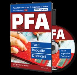 PFA: Taxe, Impozite si Deduceri - conform Noului Cod Fiscal