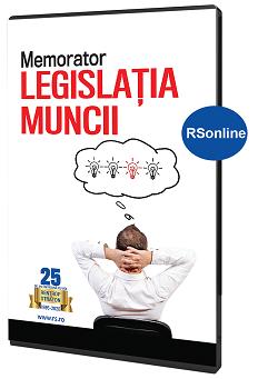 Memorator Legislatia muncii - varianta RsOnline