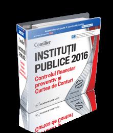 Consilier Institutii Publice Controlul Financiar Preventiv si Curtea de Conturi 2016