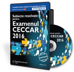 CD Subiecte Rezolvate pentru Examenul CECCAR 2016