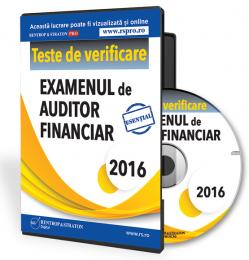 CD Teste de pregatire pentru examenul de auditor financiar 2016