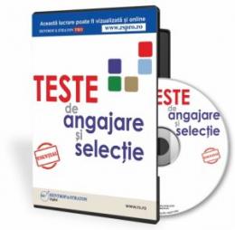 CD Teste de angajare si selectie