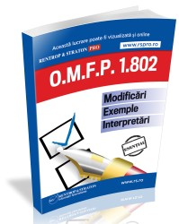 OMFP 1802. Modificari, exemple, interpretari (tipar)