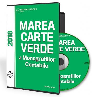 CD Marea Carte Verde a Monografiilor Contabile 2018
