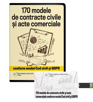 170 de modele de contracte civile si acte comerciale