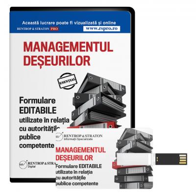 Managementul deseurilor - Formulare EDITABILE utilizate in relatia cu autoritatile publice competente.