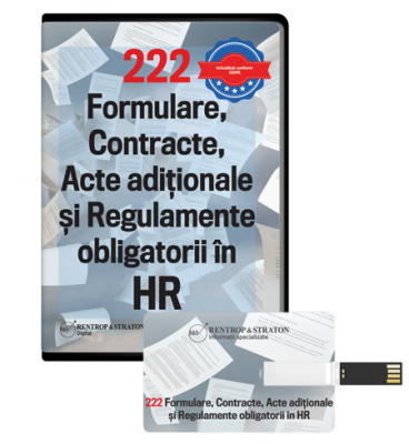 222 Formulare, Contracte, Acte Aditionale si Regulamente obligatorii in HR