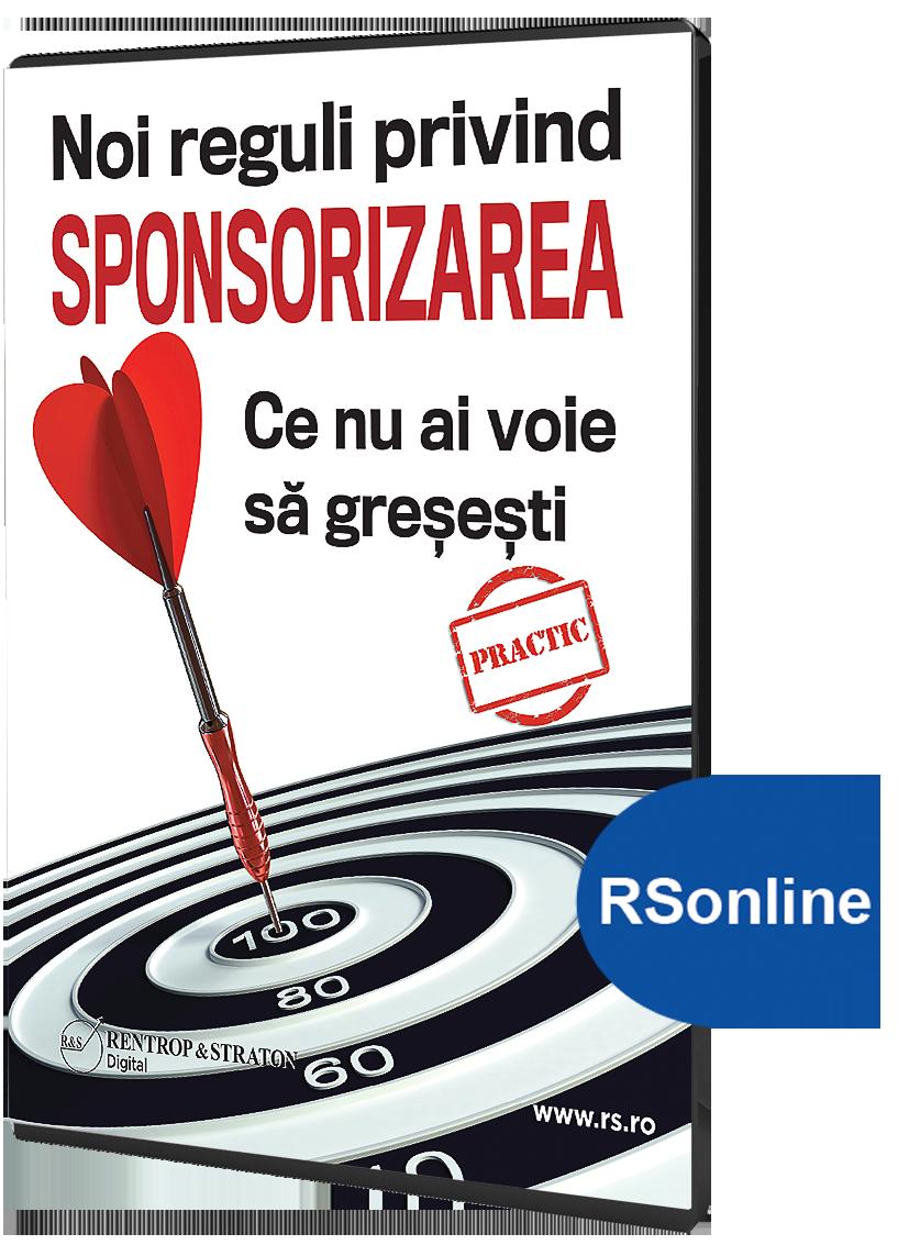 Noi reguli privind sponsorizarea  Ce nu ai voie sa gresesti