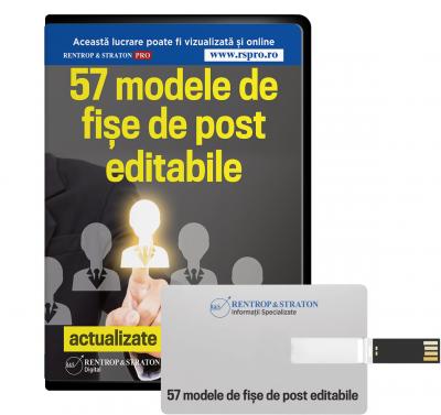 57 de modele de fise de post actualizate conform GDPR