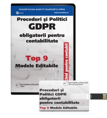 Proceduri si Politici GDPR obligatorii pentru Contabilitate - Ghid pentru Contabili - Top 9 Modele editabile