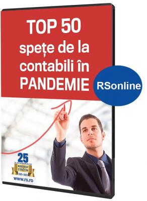 Top 50 spete de la contabili in Pandemie, lucrare online