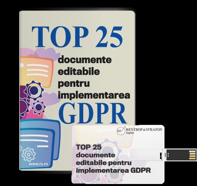 Top 25 documente editabile pentru implementarea GDPR