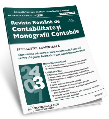 Revista Romana de Contabilitate si Monografii Contabile - abonament pe 12 editii