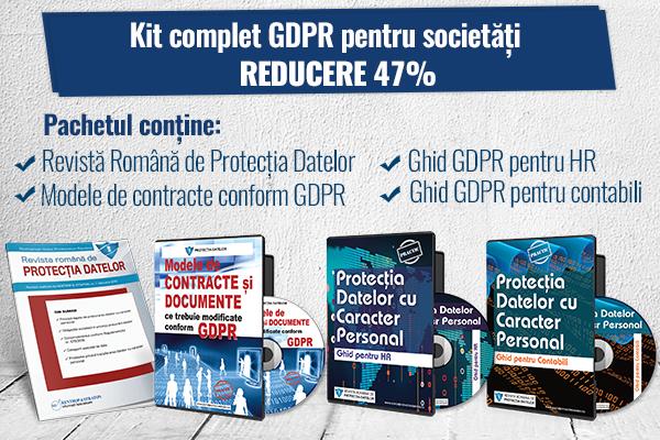 Kit complet GDPR pentru societati comerciale