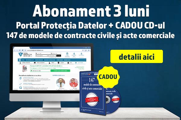 Abonament 3 luni Portal Protectia Datelor - Profita de CADOU!
