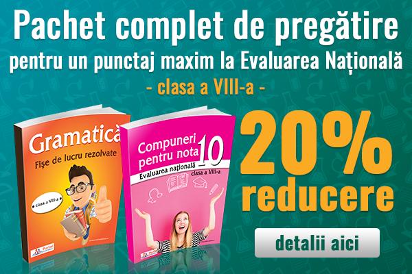 Pachet Gramatica si Compuneri de nota 10 cu 20% reducere!