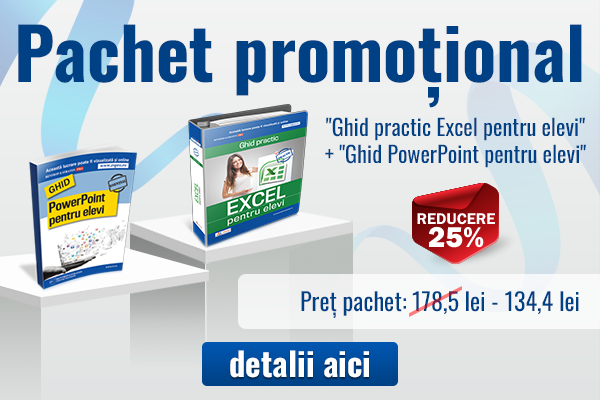 Pachet special la reducere - PowerPoint si Excel