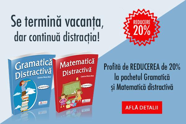 Pachet Gramatica si Matematica - reducere 20%