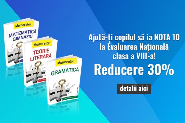 Pachet memoratoare gimnaziu - Gramatica, Matematica, Teorie Literara