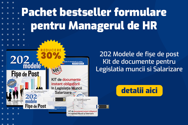 Pachet bestseller - 202 modele de fise de post + Kit de documente pentru Salarizare