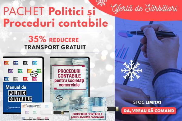 Pachet Politici si Proceduri CONTABILE - 35% REDUCERE