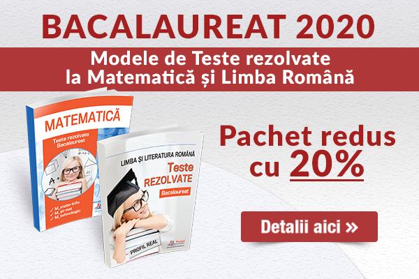 Bacalaureat 2020 - Pachet REDUS cu 20%