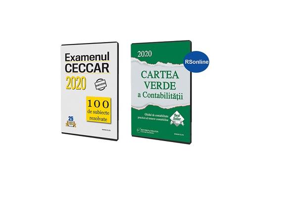 Pachet acces stagiu CECCAR 2020 - Cartea verde a contabilitatii + 100 subiecte rezolvate CECCAR