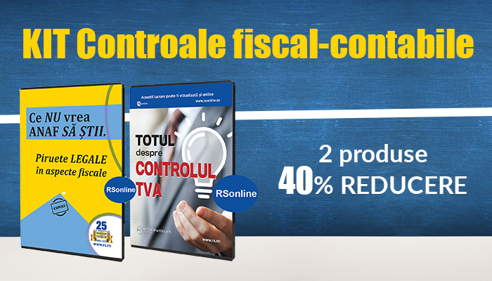 KIT Controale fiscal-contabile - 40% REDUCERE