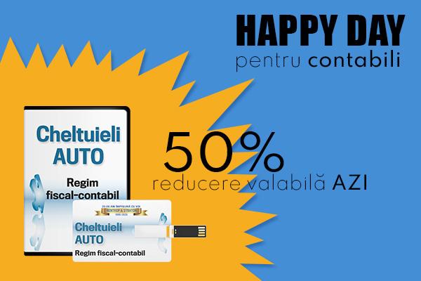 HAPPY DAY pentru contabili - 50% REDUCERE