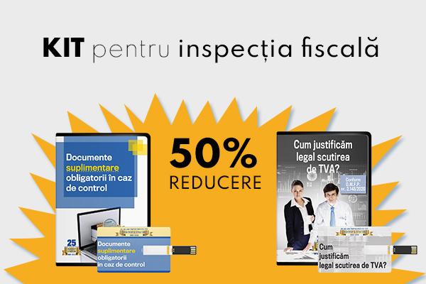 KIT pentru inspectia fiscala - 20% REDUCERE