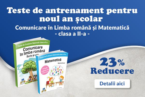 Pachet Evaluarea Nationala clasa a II-a: Matematica + Comunicare