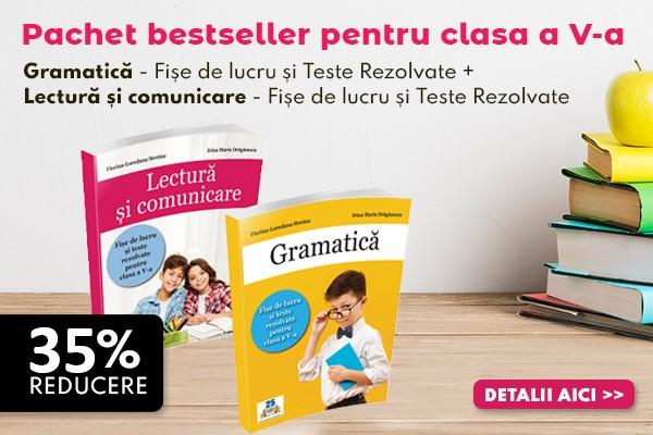 Pachet bestseller pentru clasa a V-a - Gramatica + Lectura si comunicare