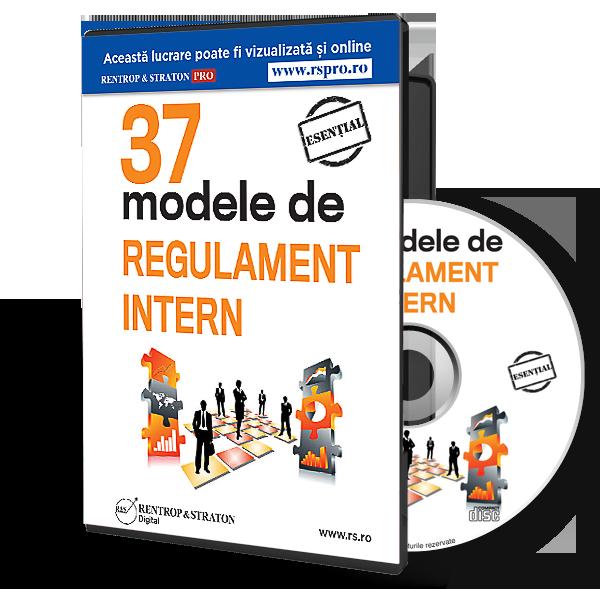 CD 37 de Modele de Regulament intern
