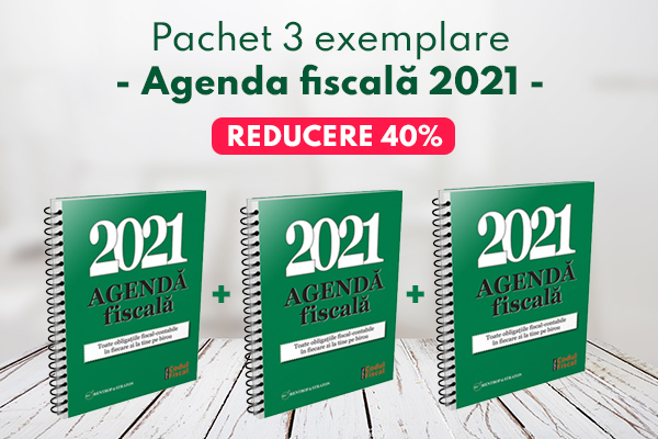Pachet 3 exemplare - Agenda fiscala 2021
