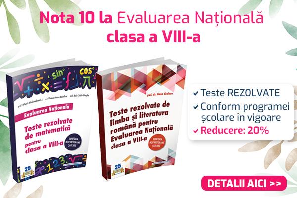 Evaluarea Nationala 2021: Culegere teste matematica + limba si literatura romana