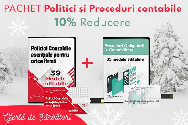 Pachet Politici si Proceduri contabile