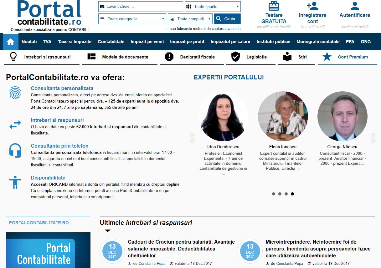 Abonament PortalContabilitate.ro - abonament 12 luni