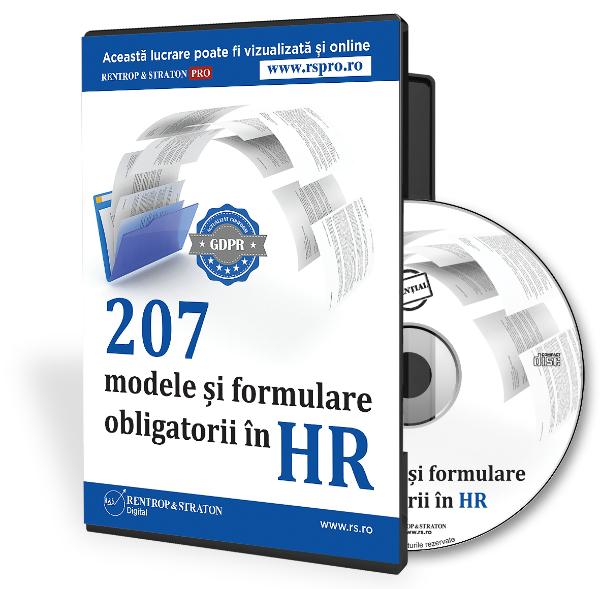 207 modele si formulare obligatorii in HR