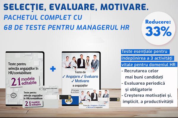 Selectie, evaluare, motivare. Pachetul complet cu 68 de teste pentru managerul HR