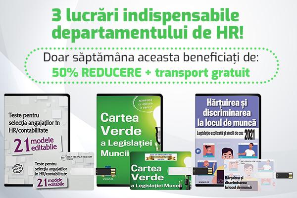 Lucrari pentru departamentul HR: 50% REDUCERE