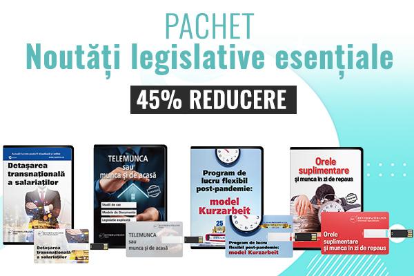 Noutati legislative: Studii de caz, Legislatie explicata, Modele de documente