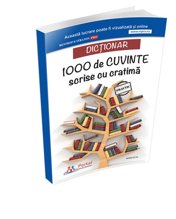 Dictionar 1000 de cuvinte scrise cu cratima