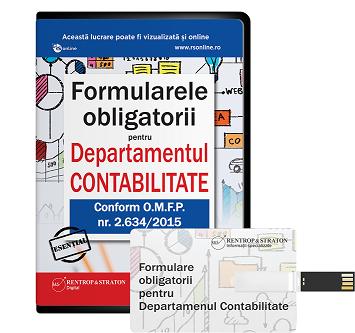 Formularele obligatorii pentru Departamentul Contabilitate