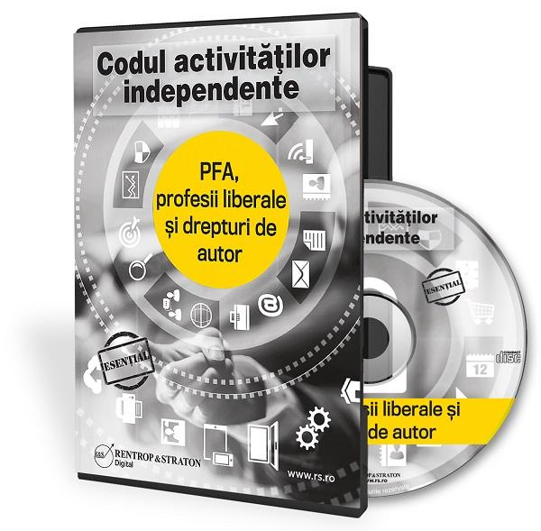 Codul activitatilor independente: PFA, profesii liberale si drepturi de autor