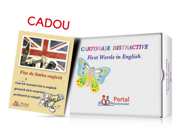 Pachet Cartonase distractive: First words in English