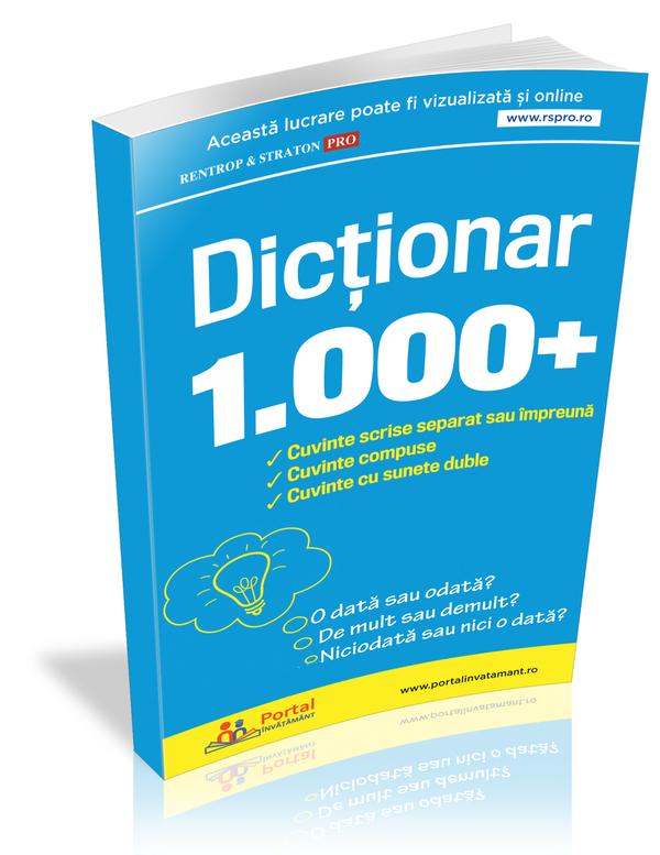 Dictionar 1000+ cuvinte scrise separat sau impreuna